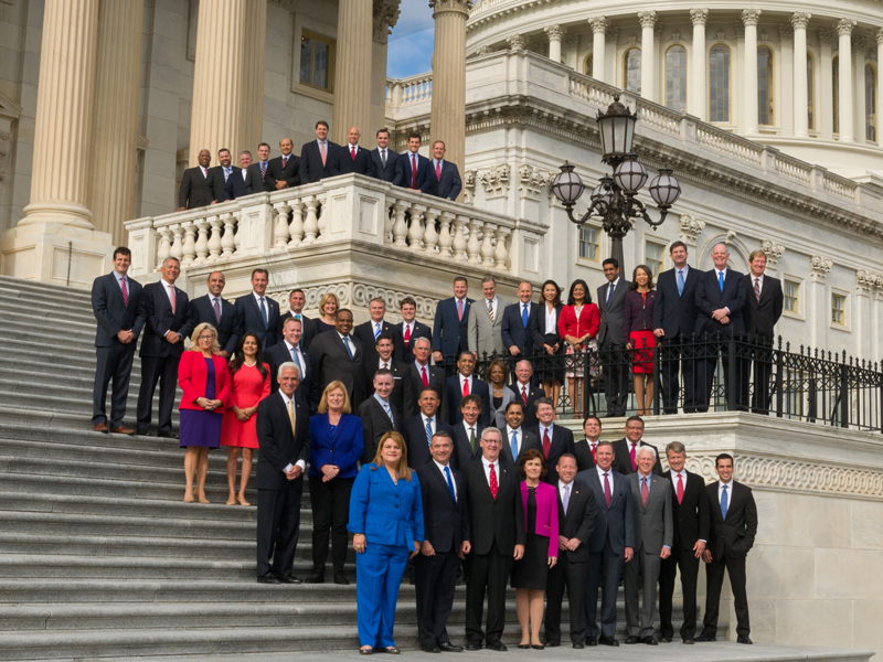 The 2016 Freshman Class of the 115th, or current Congress. Many claim that President Trump's election spurred on the wave of young, progressive candidates that ran in the 2018 midterm elections. ( Source )