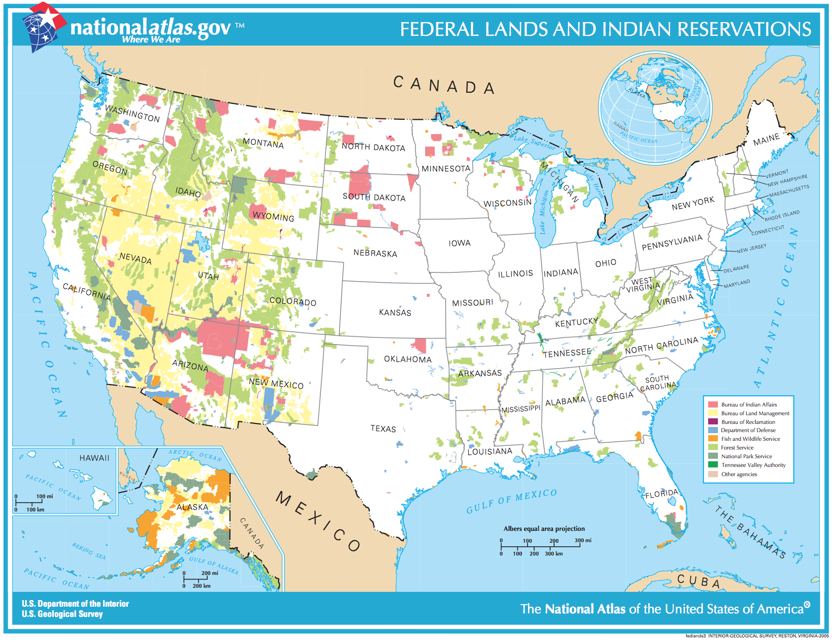 A map locating the roughly 609 million acres of federal public lands in the United States ( Image )