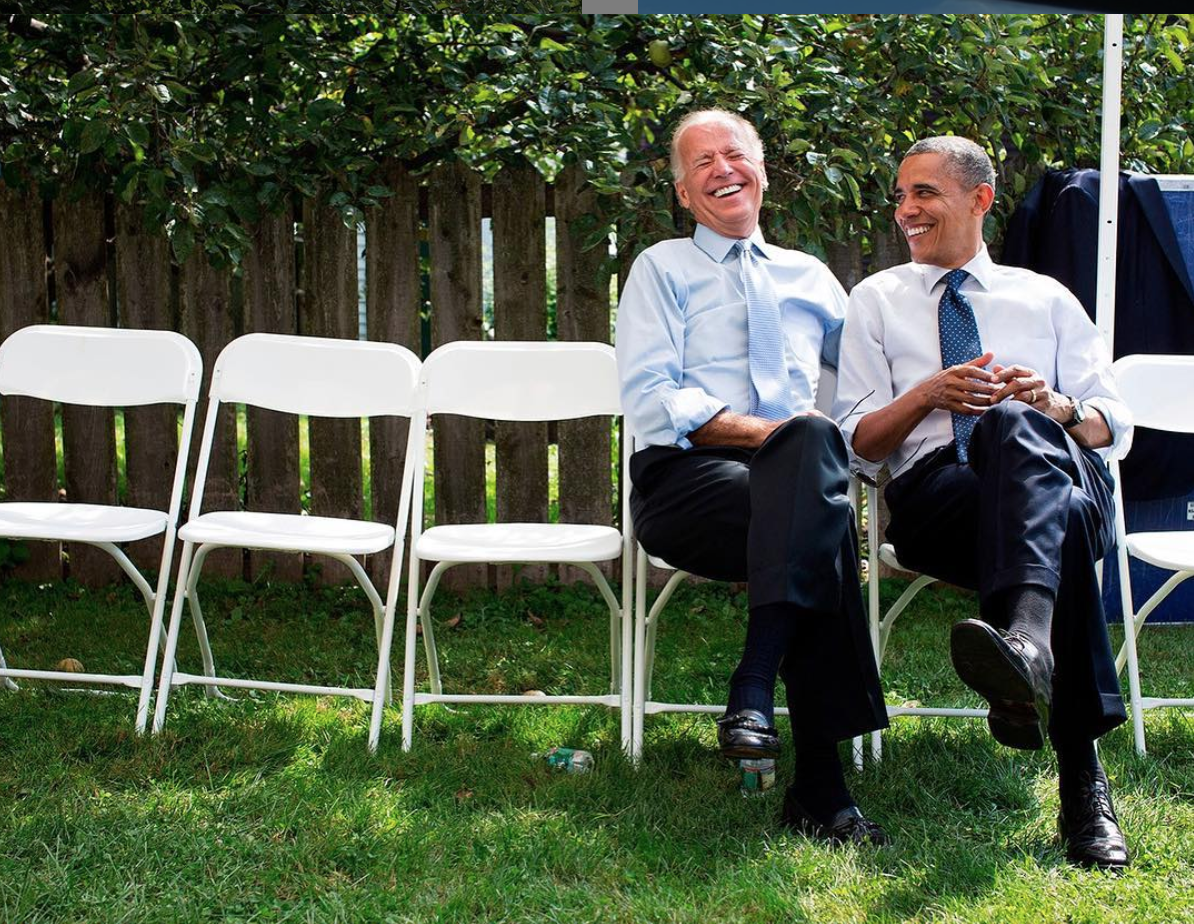 Obama shares a laugh with then-Vice President Joe Biden ( Image )