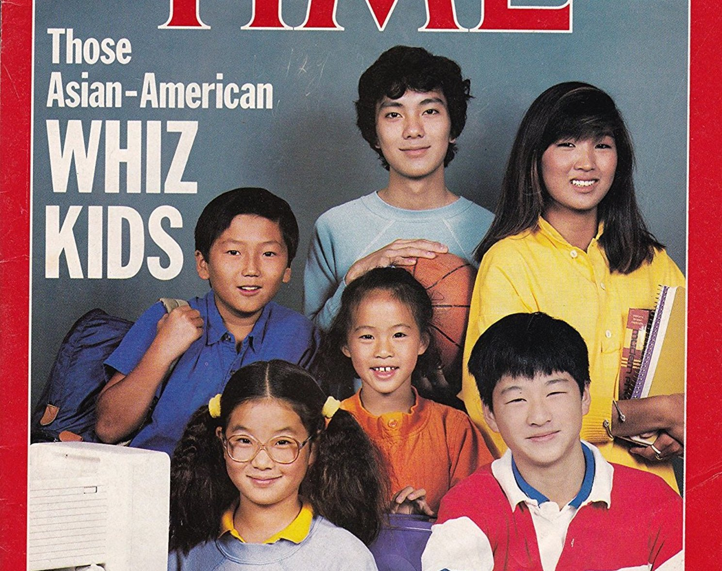 """A 1987 issue of TIME Magazine, for which the cover story was """"Those Asian-American Whiz Kids"""" ( Image )"""