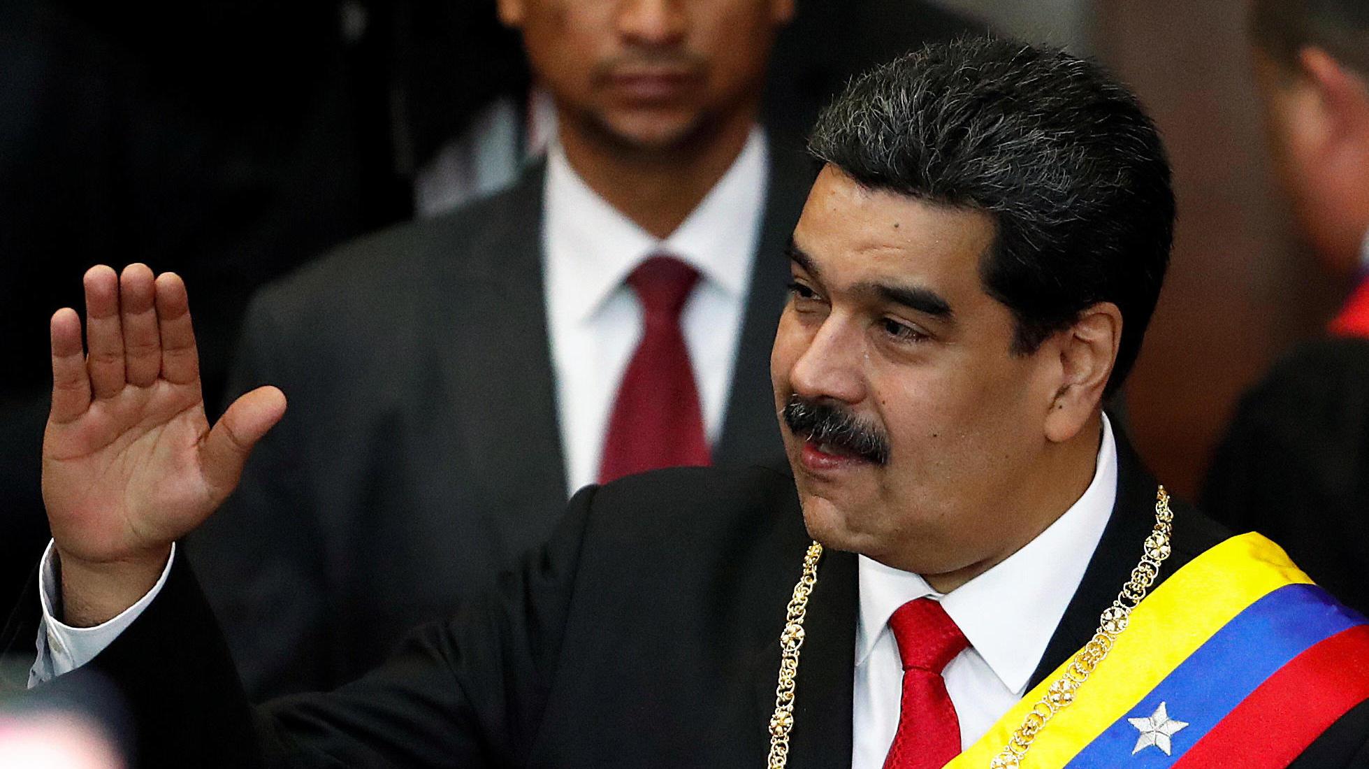 Nicolás Maduro, Venezuela's sitting president, attending a ceremony in Caracas last week ( Image )