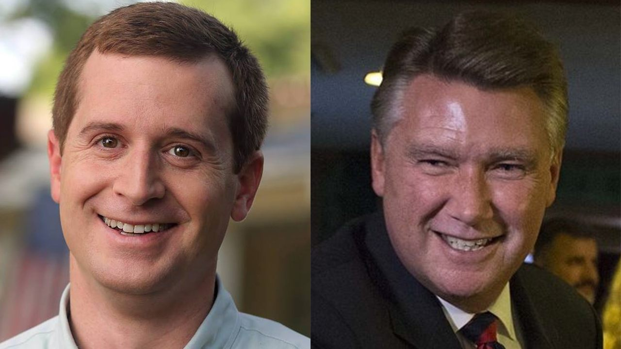 Dan McCready and Mark Harris, candidates in the NC-09 race that remains undecided and mired in controversy ( Image )