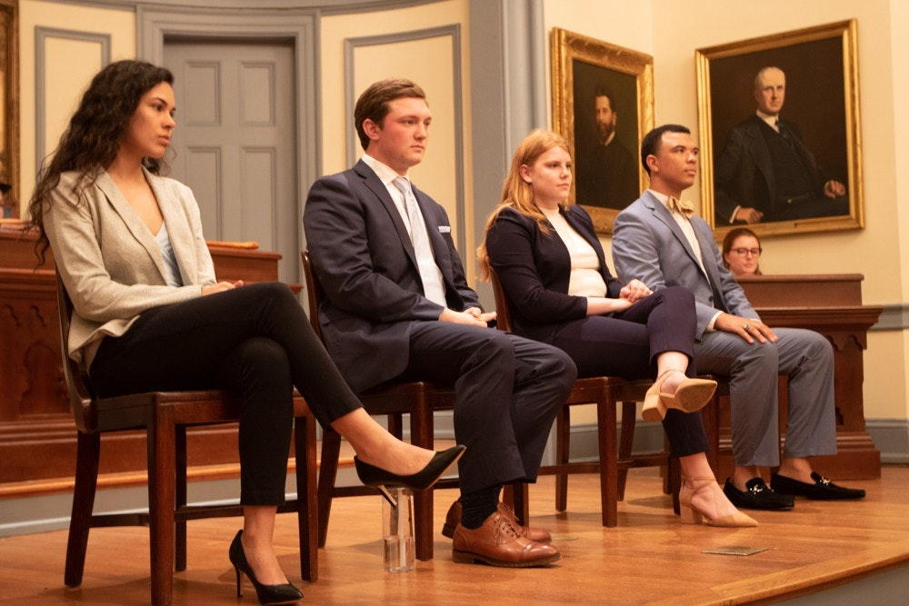 Incoming Student Body President Ashton Martin, left, with other candidates who competed in this year's race (Image:  Angelica Edwards )