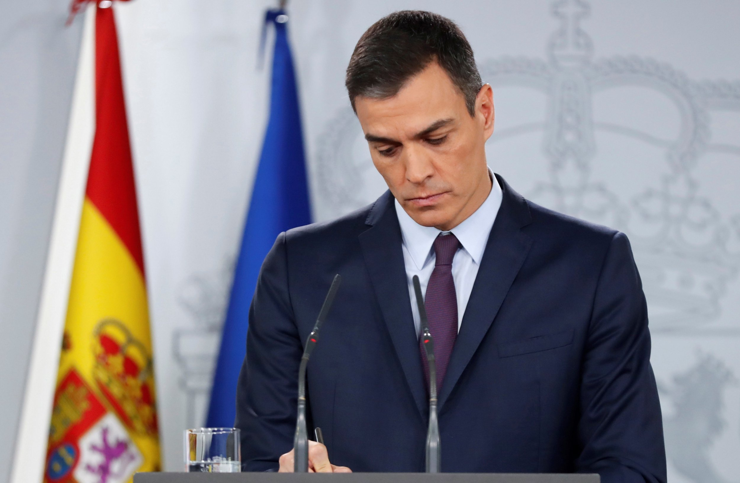 Prime Minister of Spain Pedro Sánchez announces snap elections amidst growing division in the government ( Image )