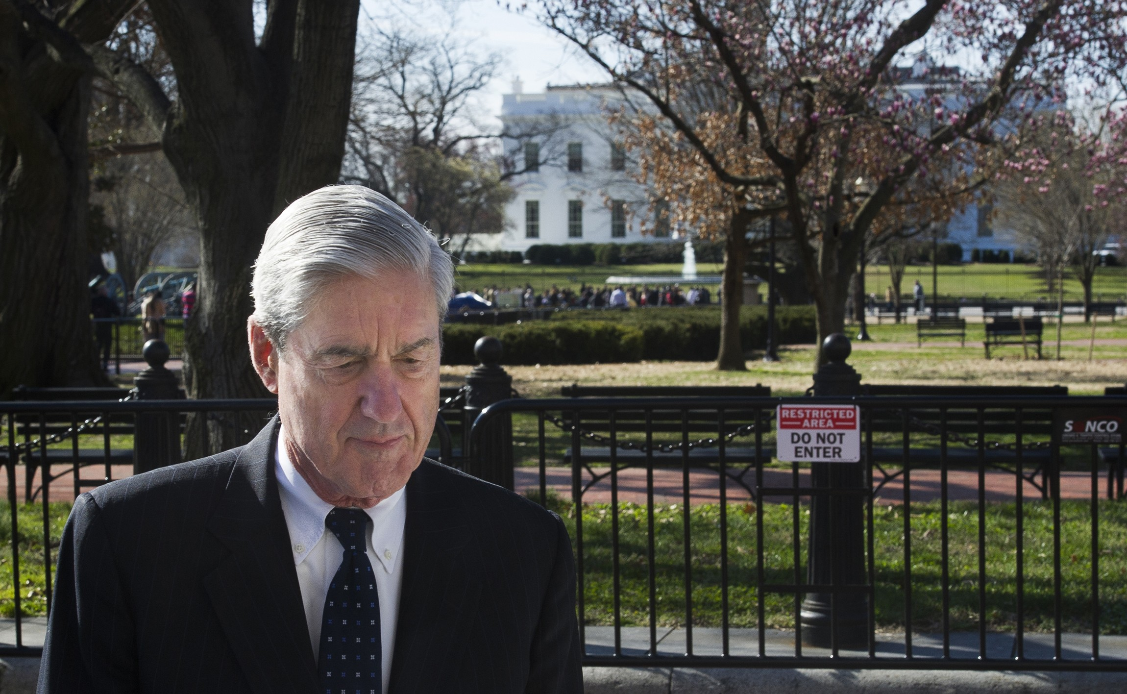 Special Counsel Robert Mueller after attending church in Washington, D.C. last Sunday ( Image )