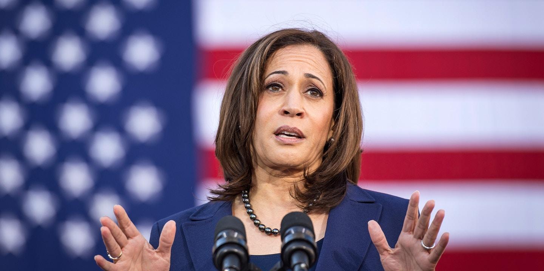 Senator Kamala Harris (D-CA) is polling fourth in most national Democratic presidential polls ( Image )