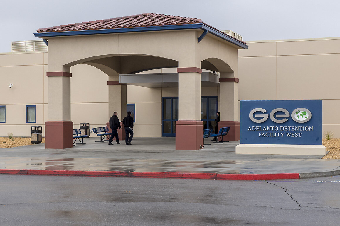 A GEO Group detention facility in Adelanto, CA. ( Image )