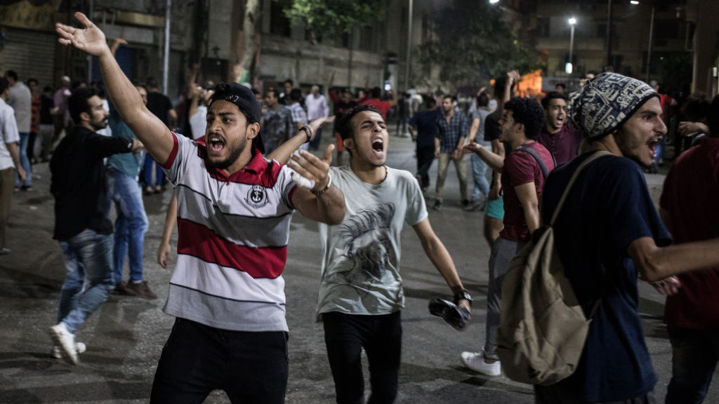 Protests spread across Egypt over the last month as anger foments around President Al-Sisi's alleged misuse of public funds ( Image )