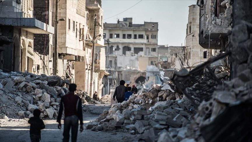 Now in its ninth year, the Syrian Civil War has claimed 300,000 lives and displaced more than seven million people ( Image )