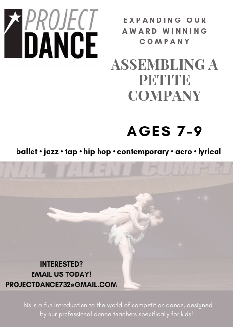 More Info - Click HERE for SUmmer intensive Dates and FAQs for the New Petite company