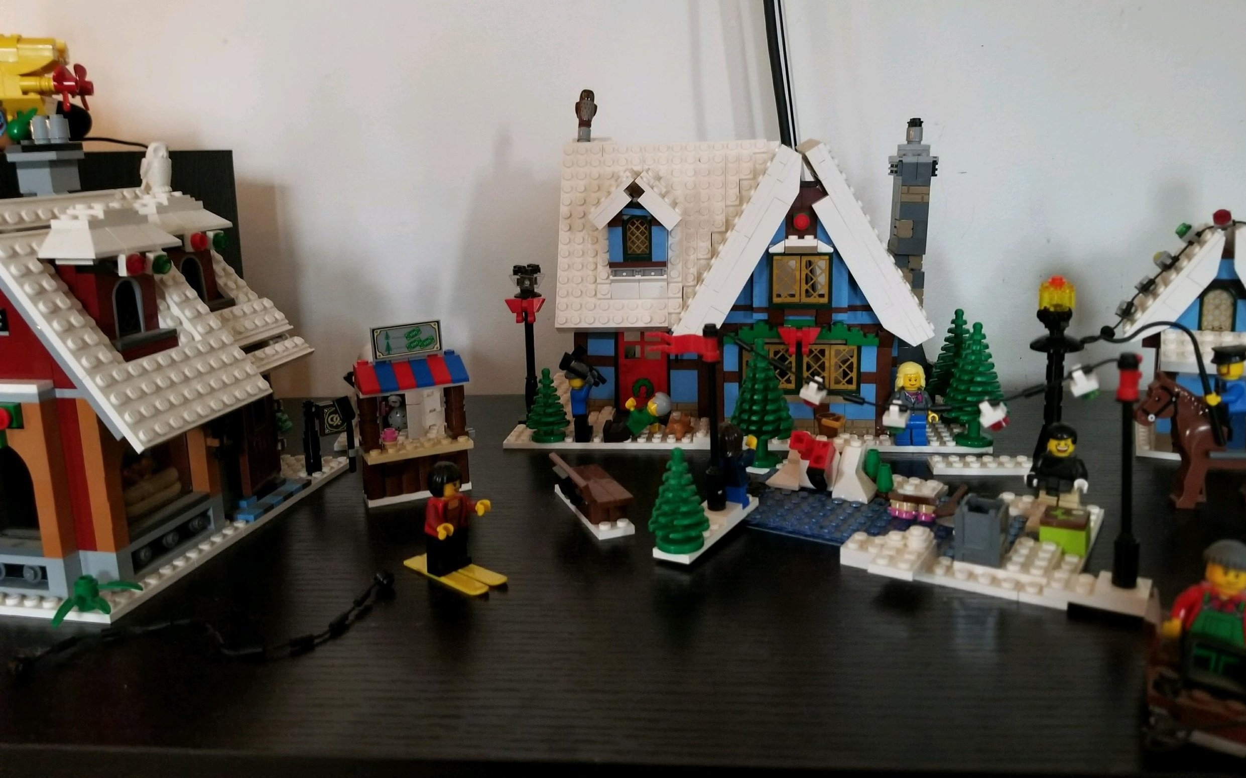 The family Christmas Lego set has stood the test of time and is on permanent display year round in our family room.