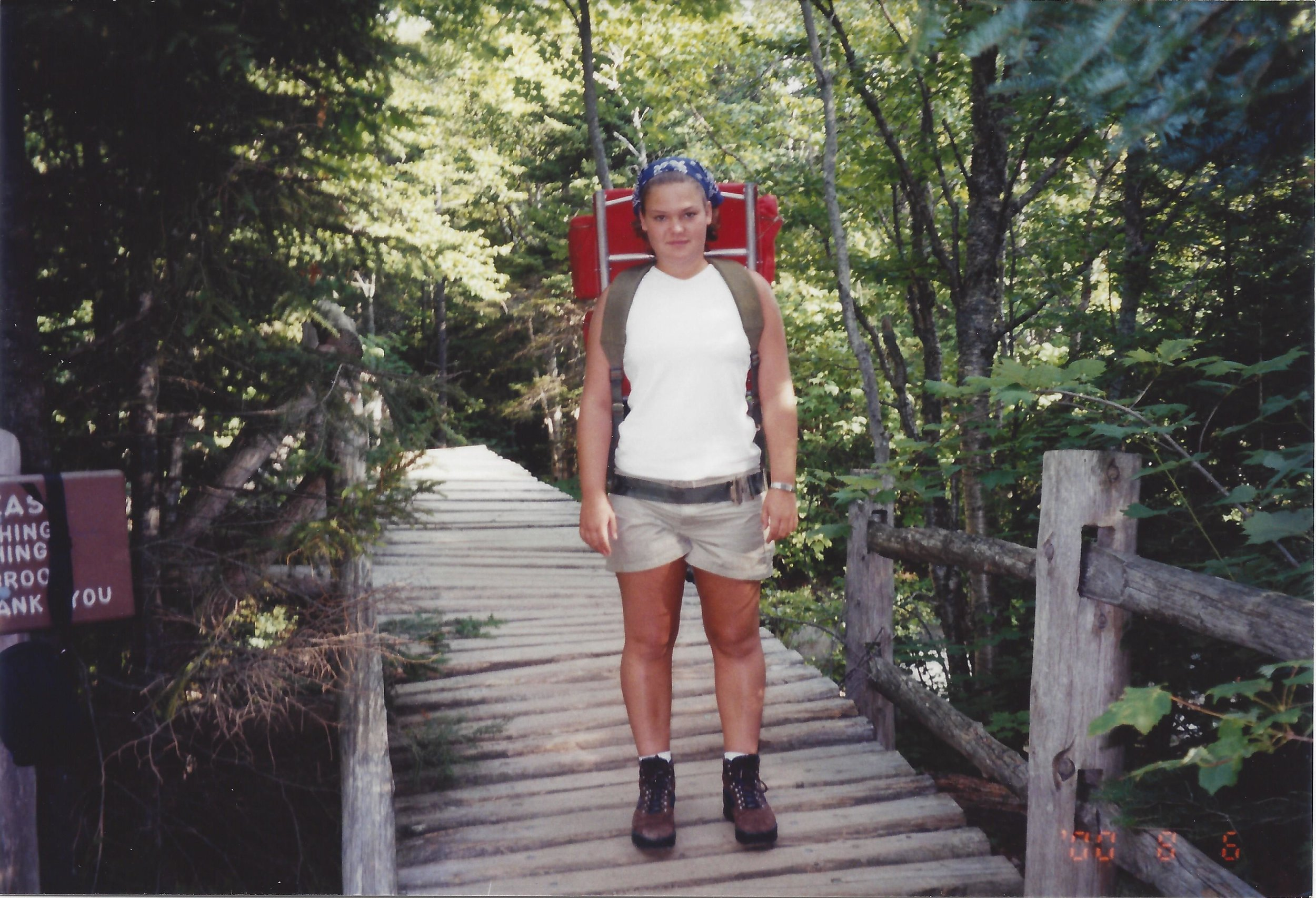 The start of a hike into Russell Pond in Baxter State Park.