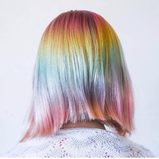 An epic rainbow 🌈 by @howtohair