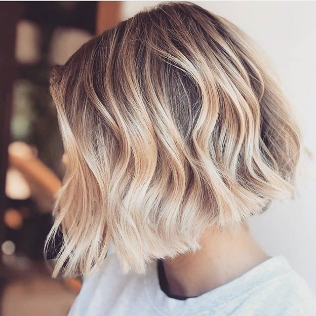 Ice ice baby! This gorgeous ice blonde blowout by the artists at @bondiboost has us seriously considering a chop & color 😍😍😍 #nationalblowoutday