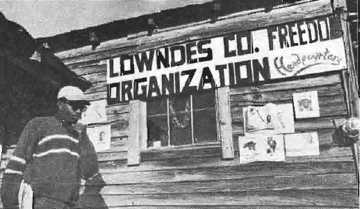 Robert Mants outside of the headquarters of the Lowndes Co. Freedom Organization. By Doug Harris, www.crmvet.org