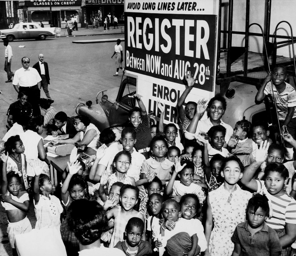 There was much cause for celebration with the passage of the Voting Rights Act, however the struggle was and is not over. (Kheel Center Archives.)