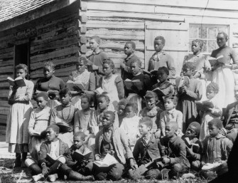 Freedpeople's school, ca. 1865-1870. Image: The Valentine Museum.