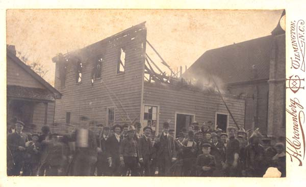 "Armed white rioters destroyed Wilmington's Black newspaper ""The Daily Record."""