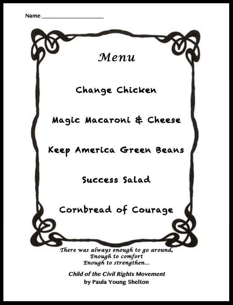 Sample menu handout. View  Sample Menu  (PDF) and download the  Menu Template  (PDF).