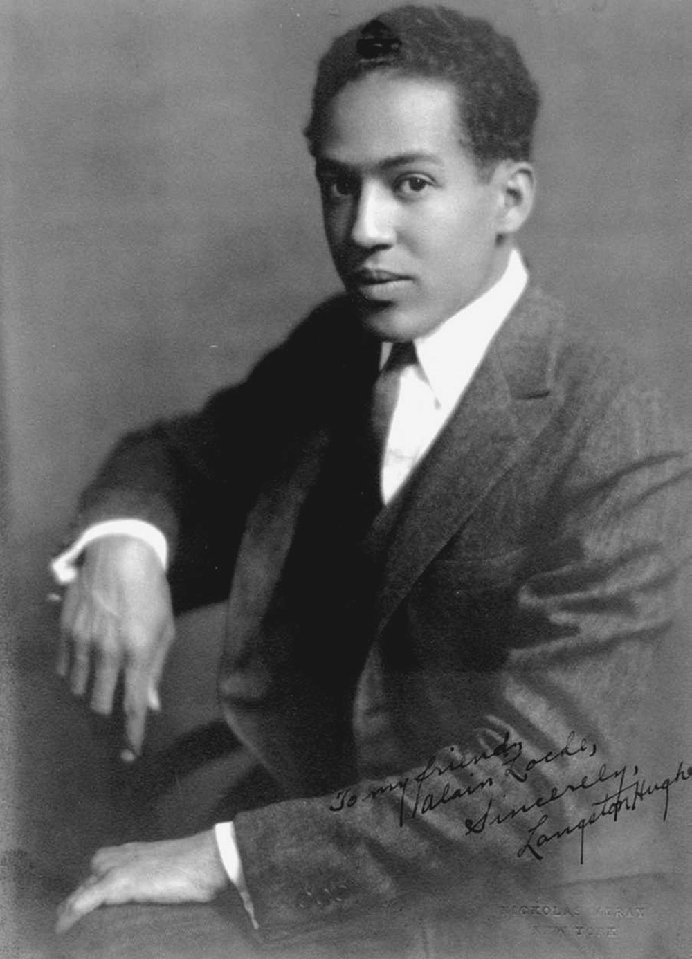 Langston Hughes.Photo courtesy of the Moorland-Spingarn Research Center, Howard University Archives