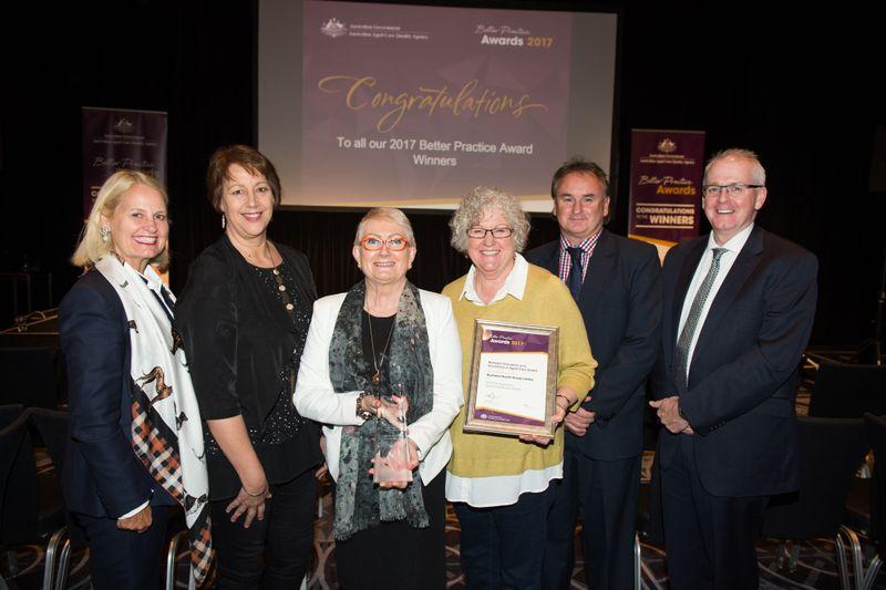 Bushland Team Receiving awad 2017  Sharyn Speakman | Bushland Health Retirement Living & Residential Aged Care