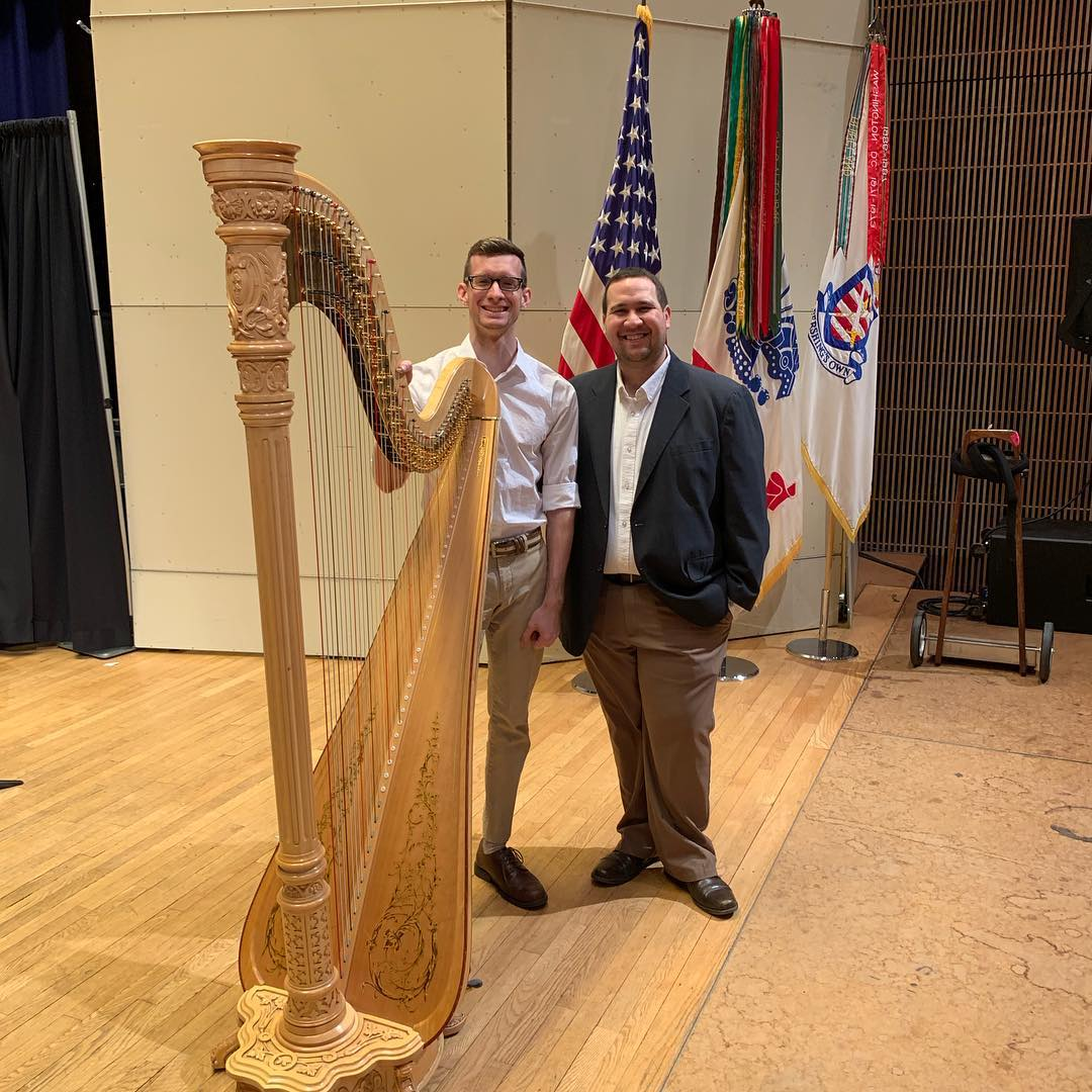 The JOLO Duo after their performance at the American Trombone Workshop — Fort Myer, Washington D.C. (March 8 2019)