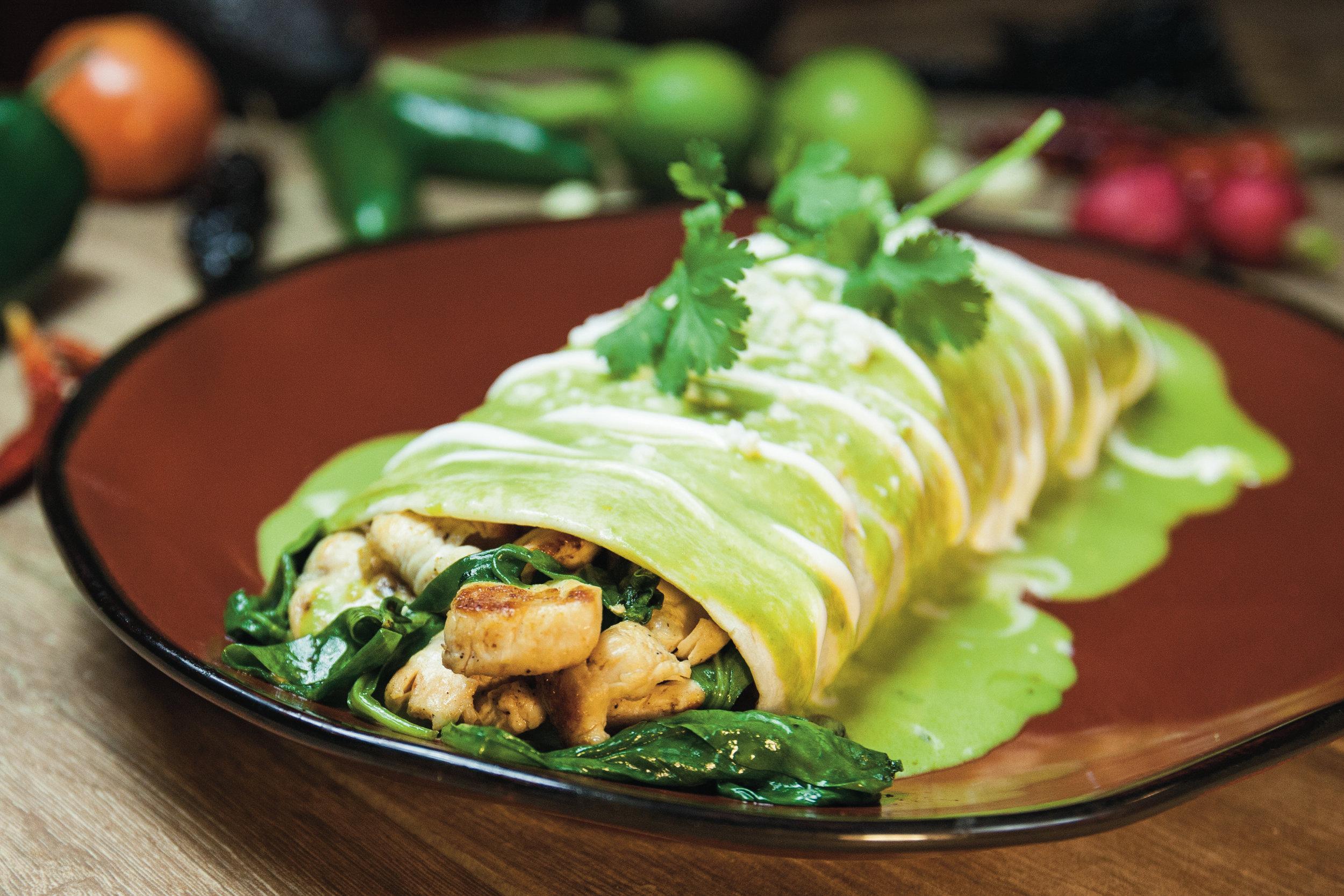 Burrito Espinaca