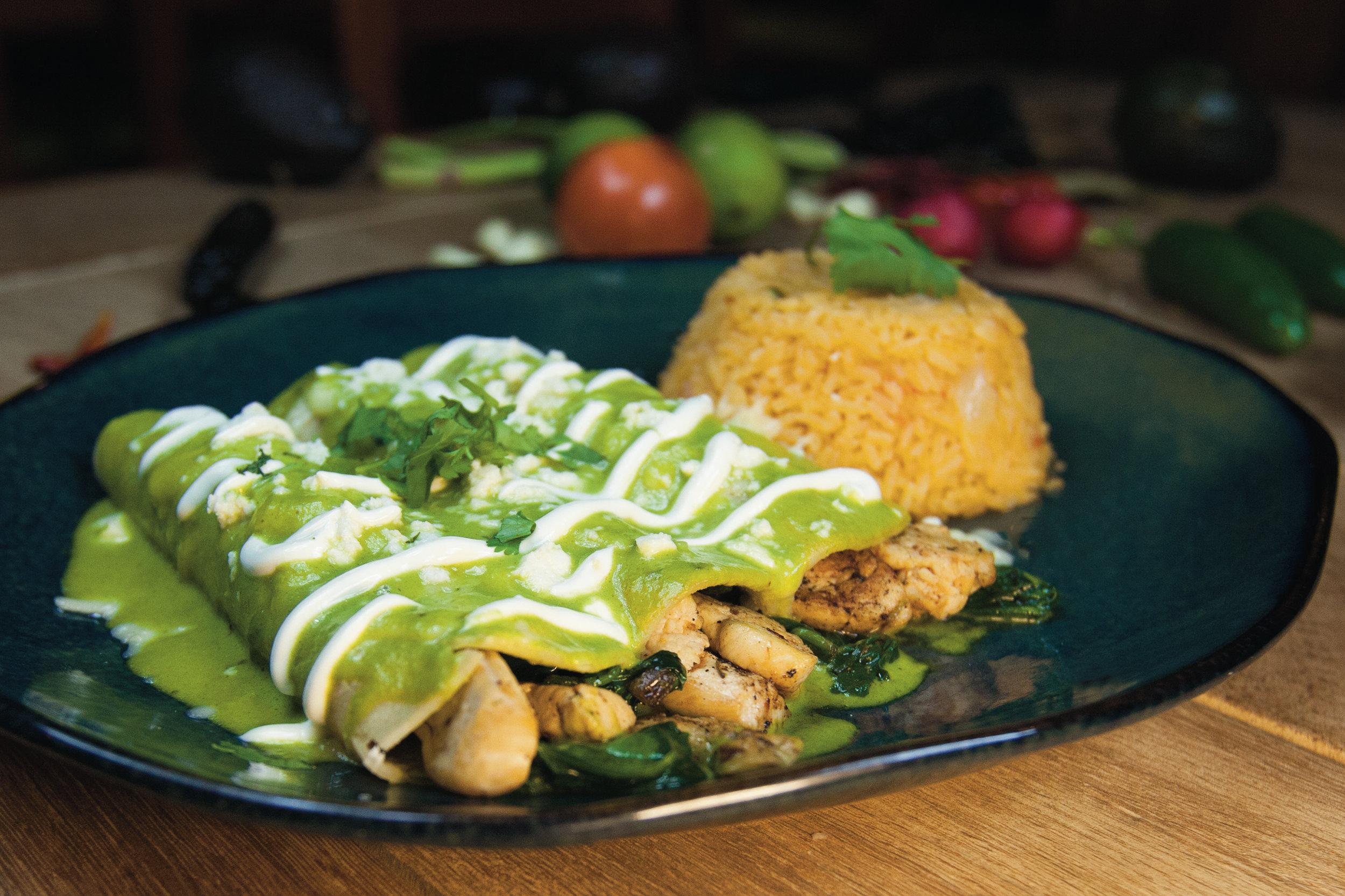 Spinach & Chicken Enchiladas