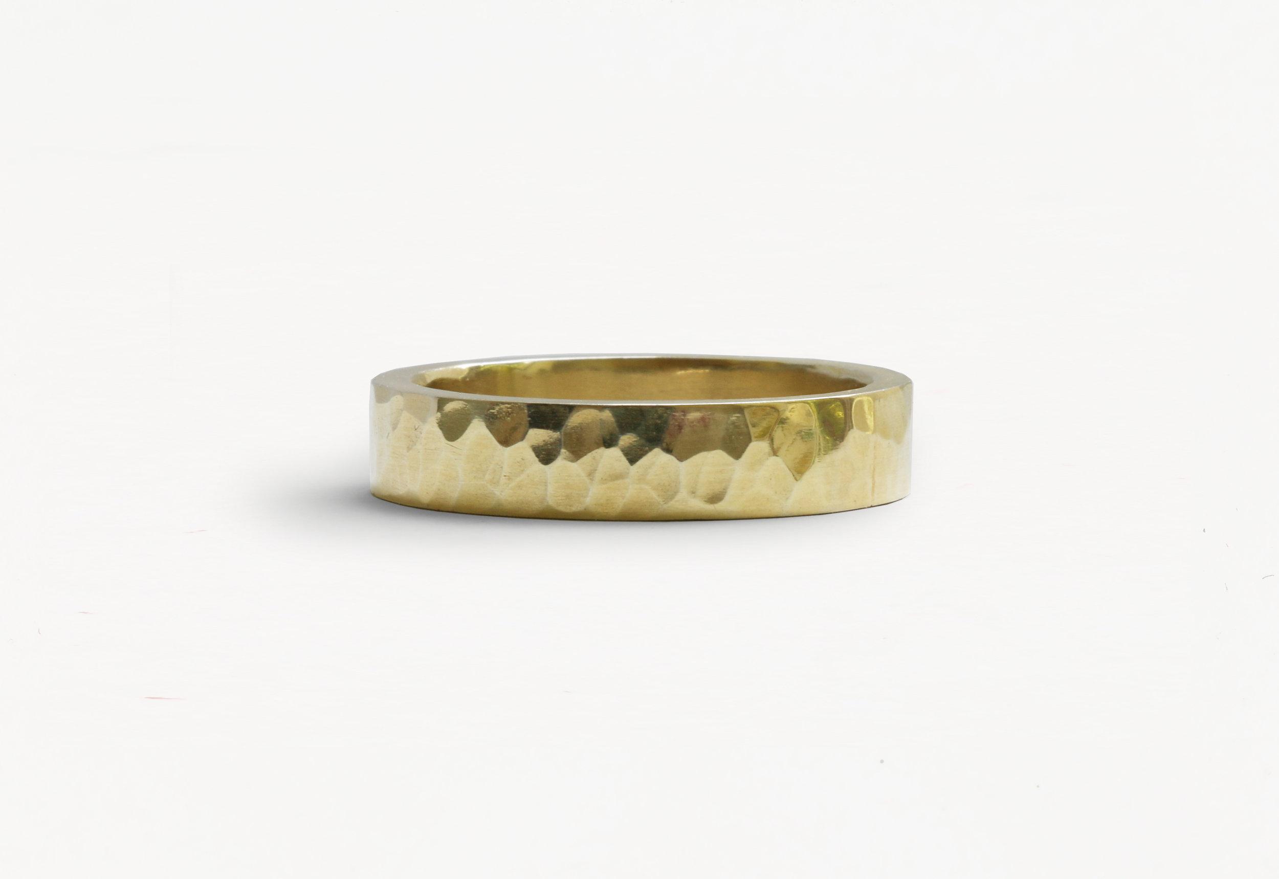 Christine Vasan | Hammered Ring in Yellow Gold