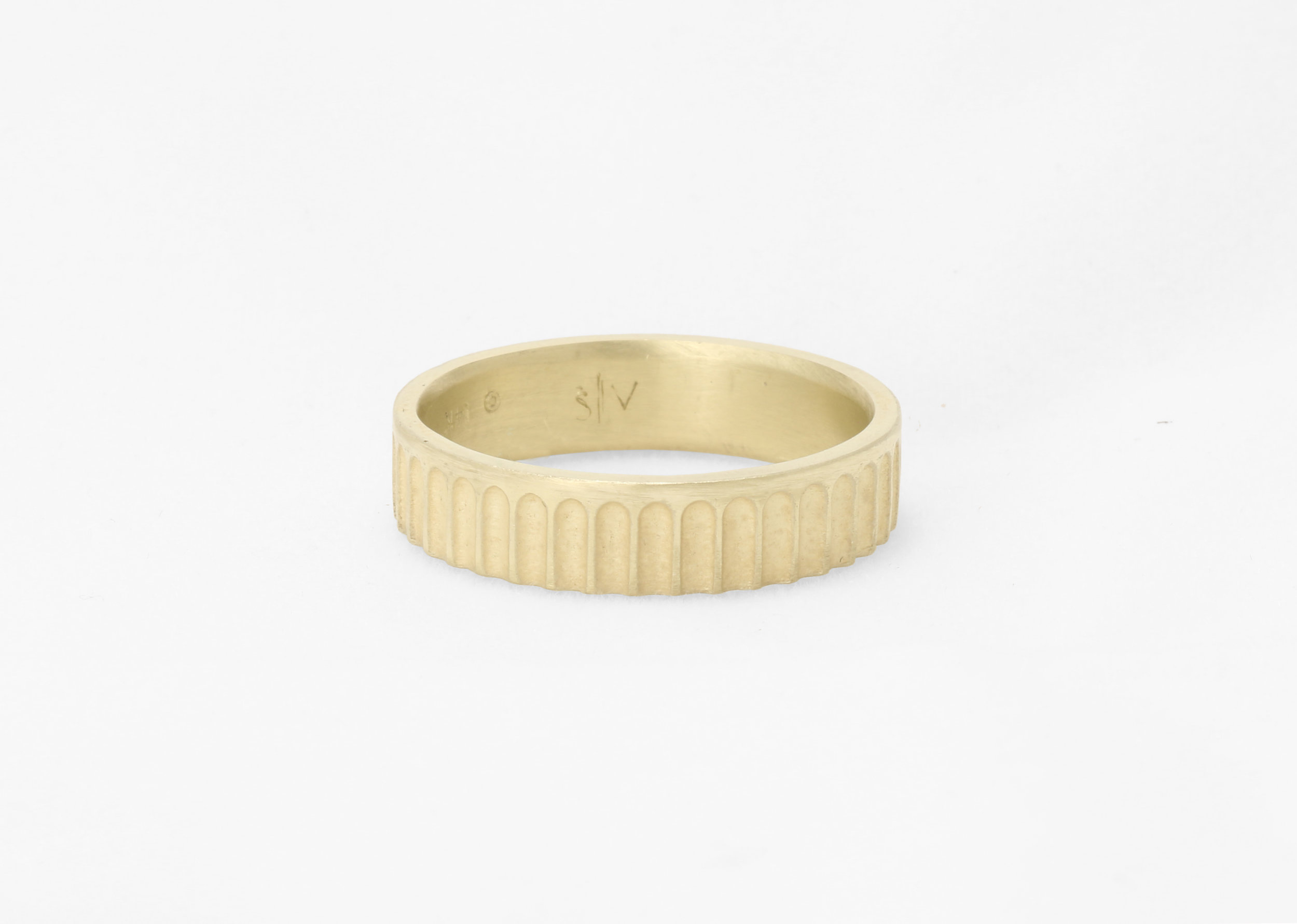 Christine Vasan   Colosseum Band in Green Gold