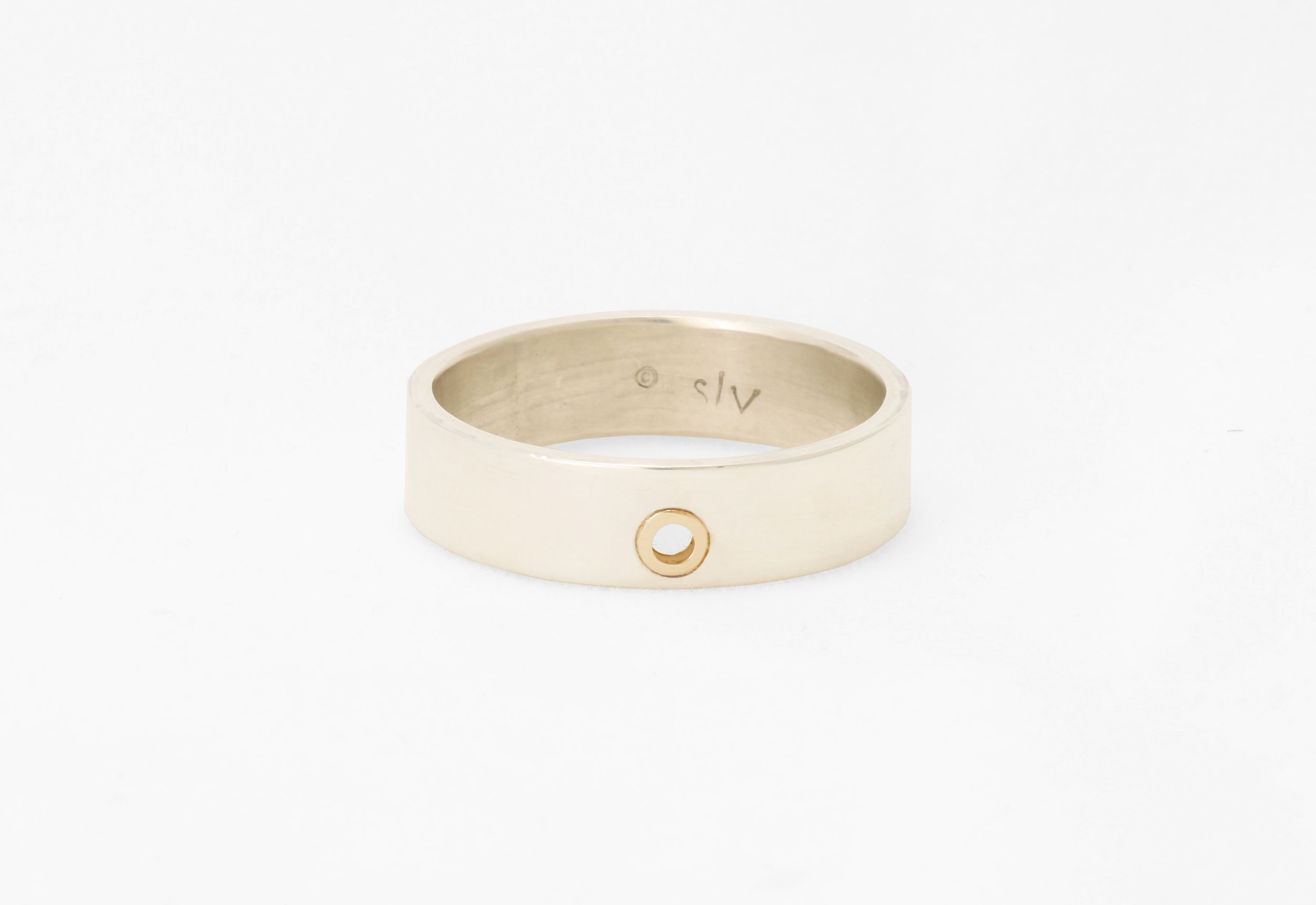 Christine Vasan | Grommet Band in White Gold