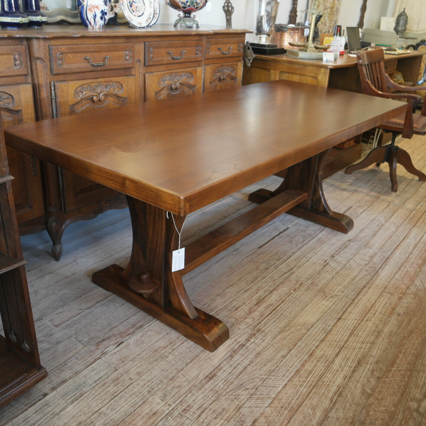 Vintage French Elm Dining Table Goodwood Antiques Collectables