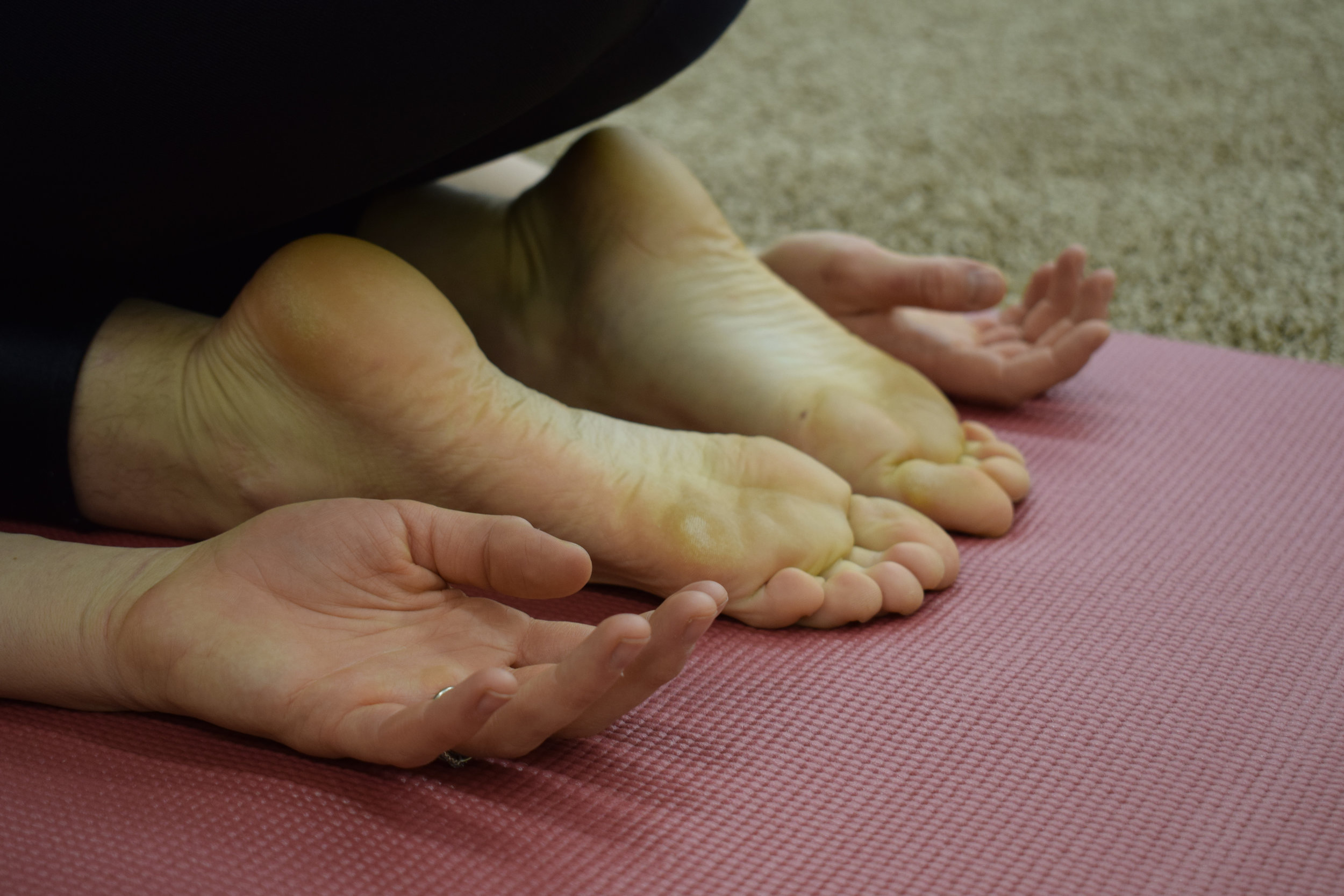 Figure 6: Rest your wrists in Child's Pose