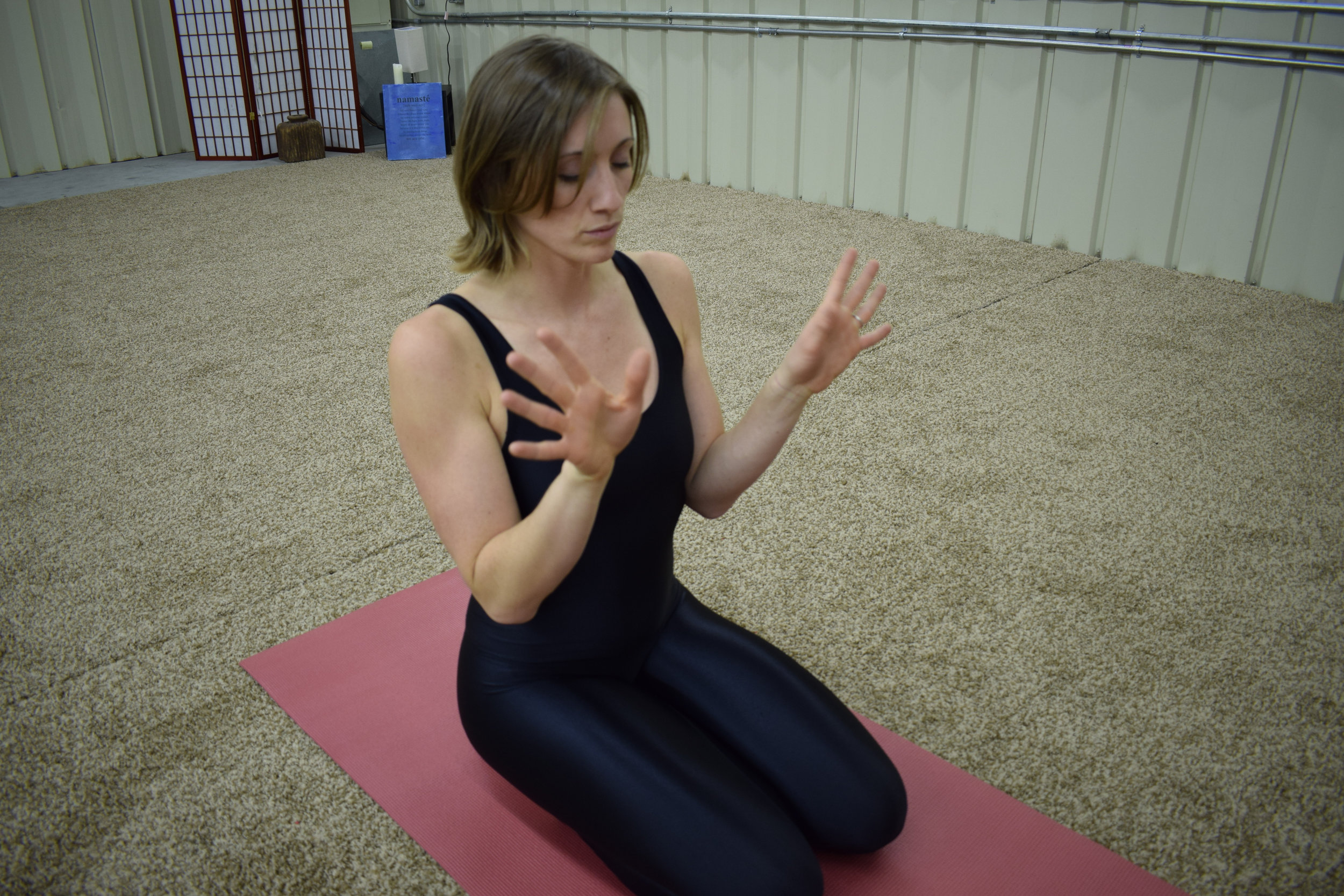 Figure 3: SLOWLY rotate the wrists to increase blood flow and consciously explore movement in the wrists.