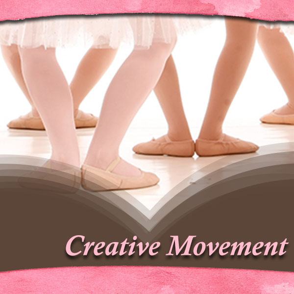 """Creative Movement:  This class is offered to 3 year-old students. It is an introductory class to Ballet and body movement. It is Ballet based, and we teach the proper Ballet positions and concepts on posture. We use a """"game concept"""" incorporating familiar fairy tales that children recognize in order to teach body awareness."""