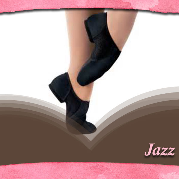 """Jazz:  ASDC offers jazz after the student has experienced two years of Ballet training (excluding the """"Pre-Ballet"""" 3 year-old year). Beginner jazz classes develop timing, simple jazz steps and techniques, along with fun choreography. Older jazz classes develop strength in turns, jumps, leaps, and also experience the traditional jazz styles."""