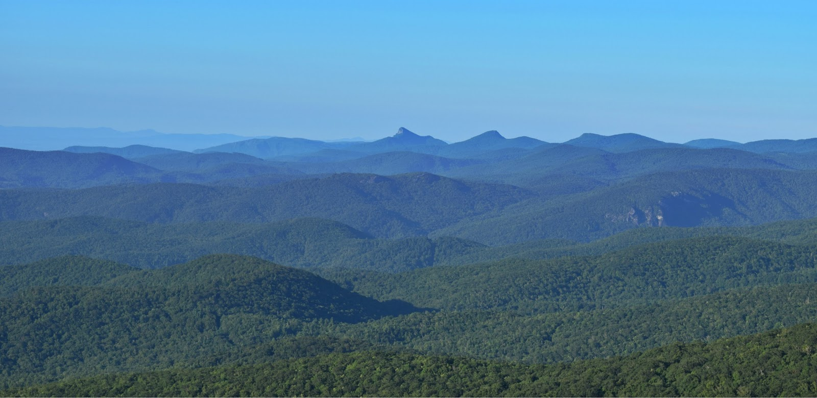 That pointy mountan is Linville Gorge Wilderness!