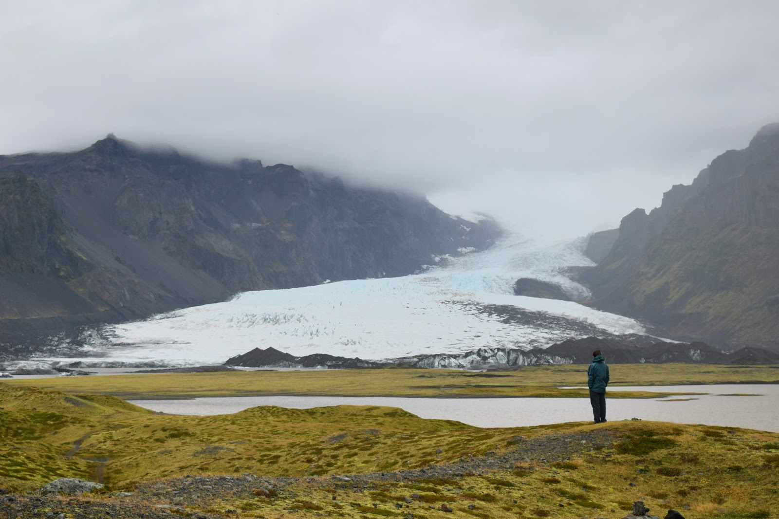 Michael in front of a glacier, name is escaping me right now...