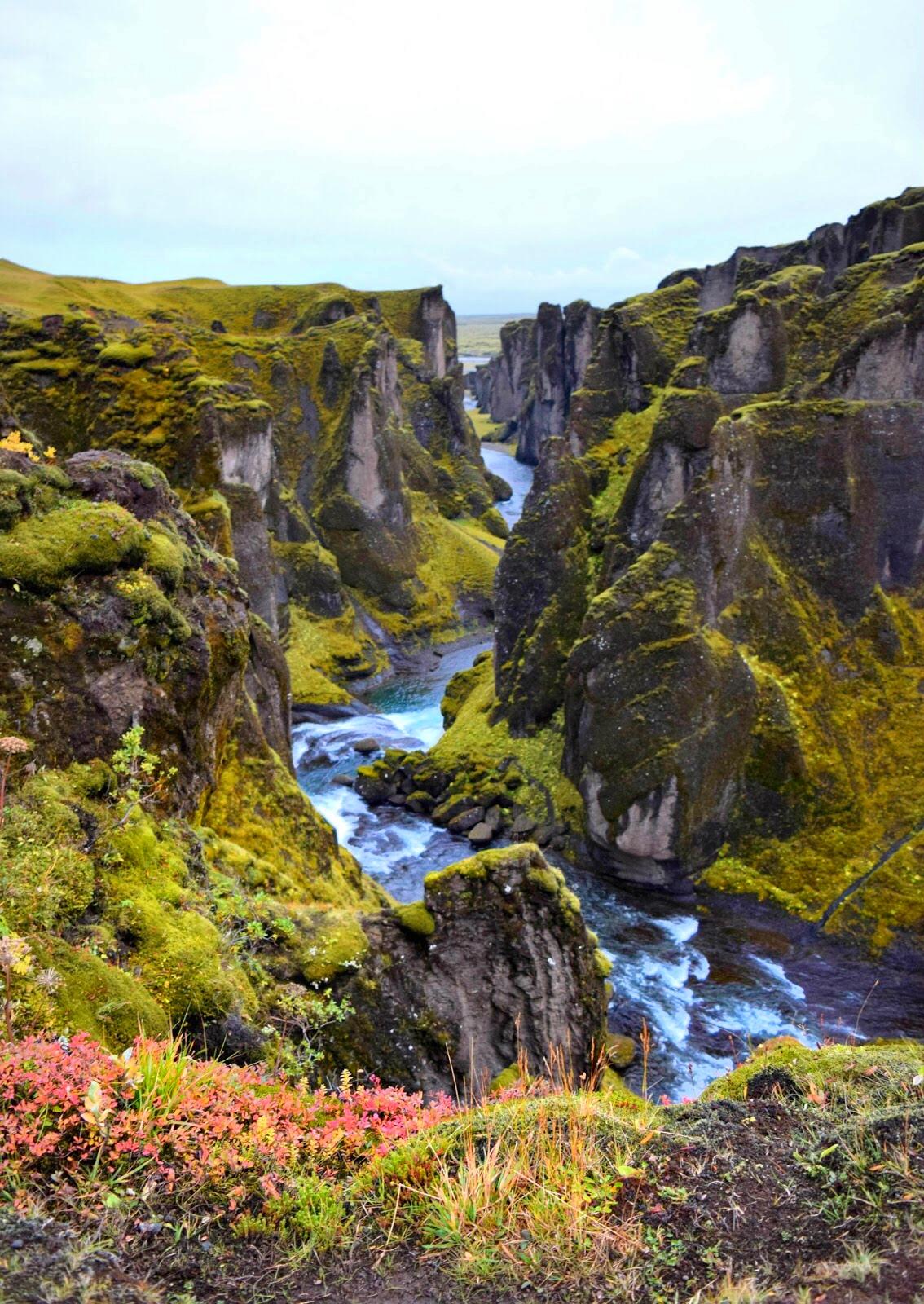Fjaðrárgljúfur Canyon, carved by glacier runoff over thousands of years