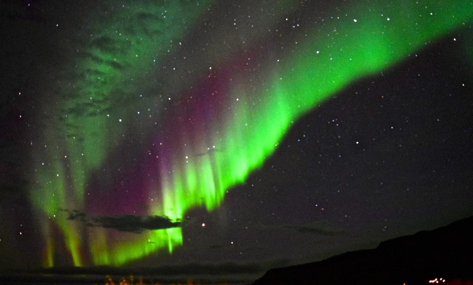 Shot of the Northern Lights Glymur