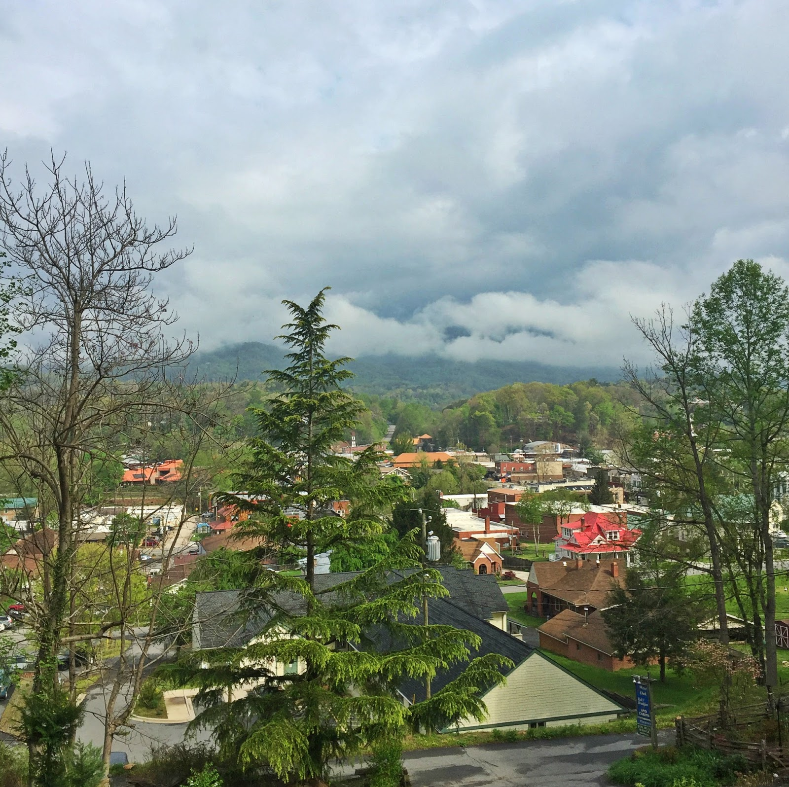 View from the deck over Bryson City