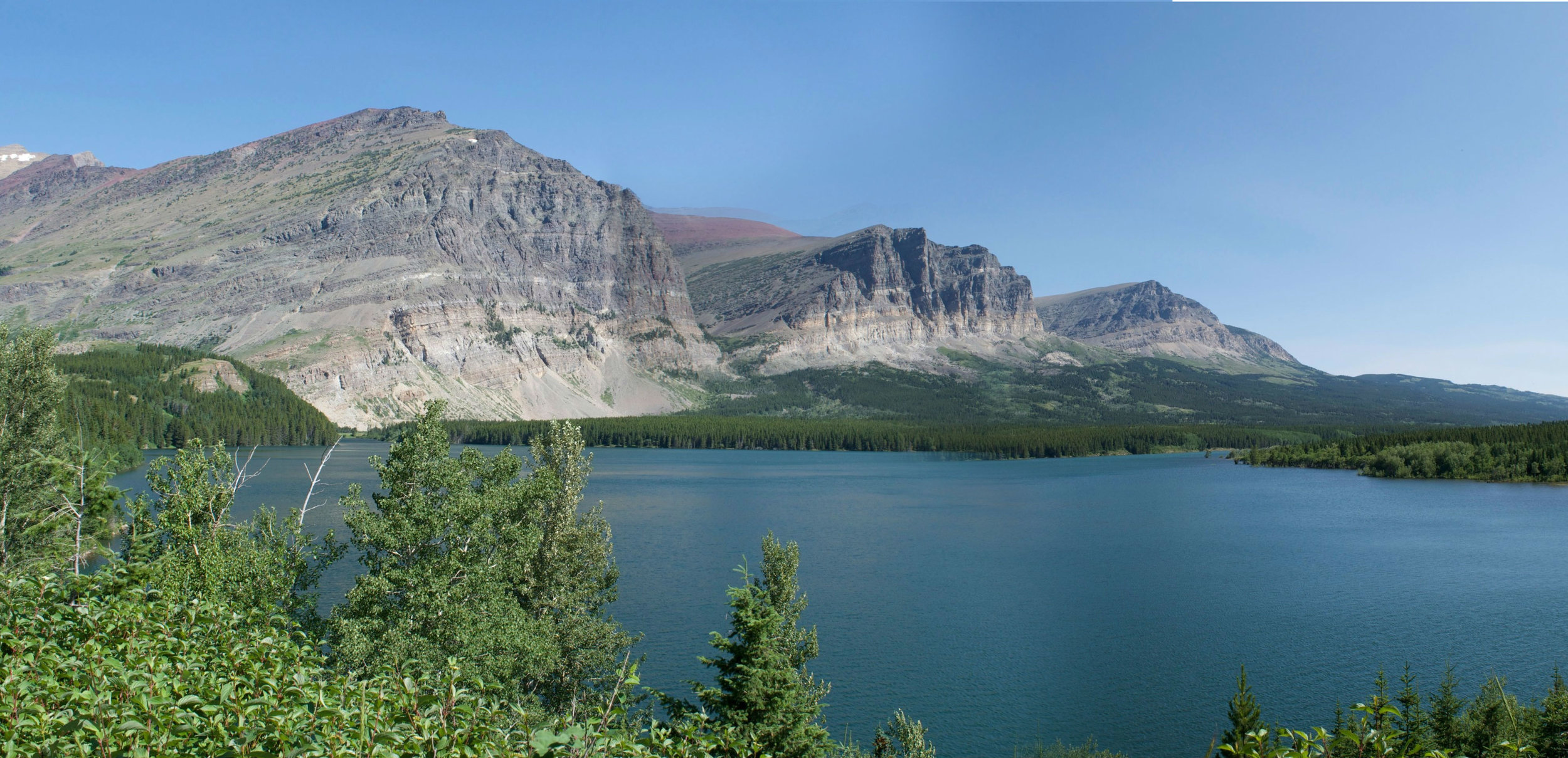 You start the hike off by hiking around the west end of Lake Sherburne