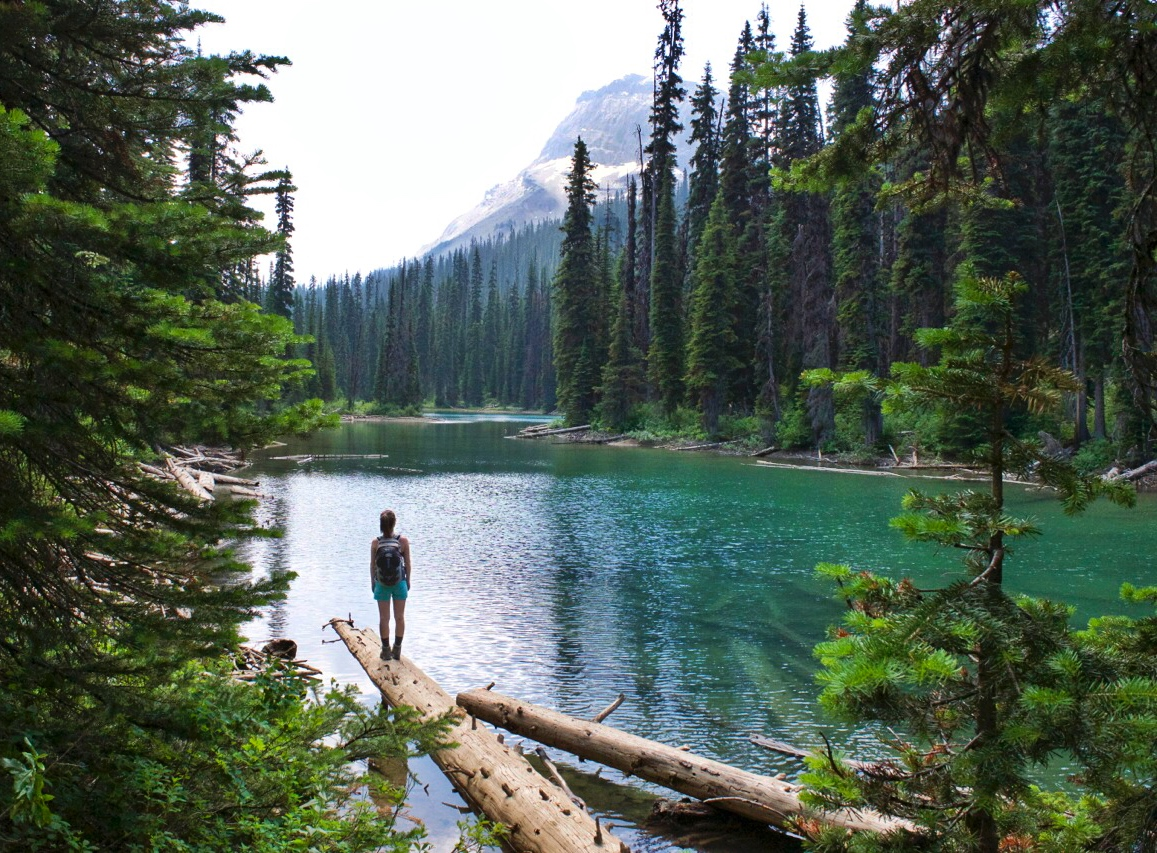 We opted to stop by Hidden Lake on our way up
