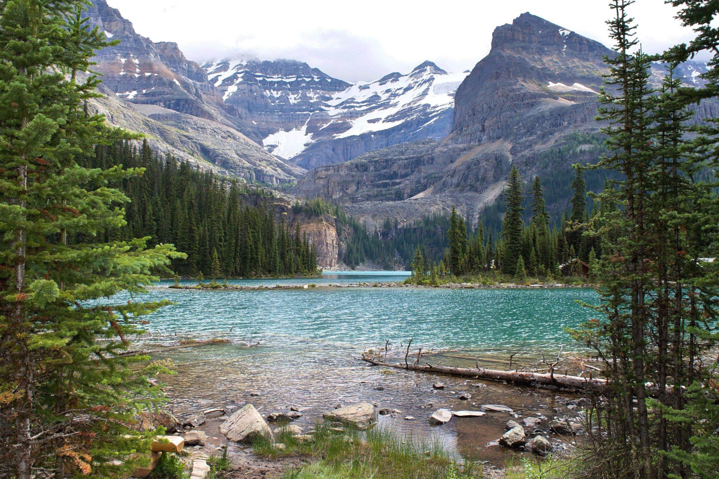 Hiking around Mary Lake