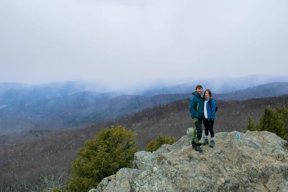 Getting caught in the snow in Shenandoah National Park