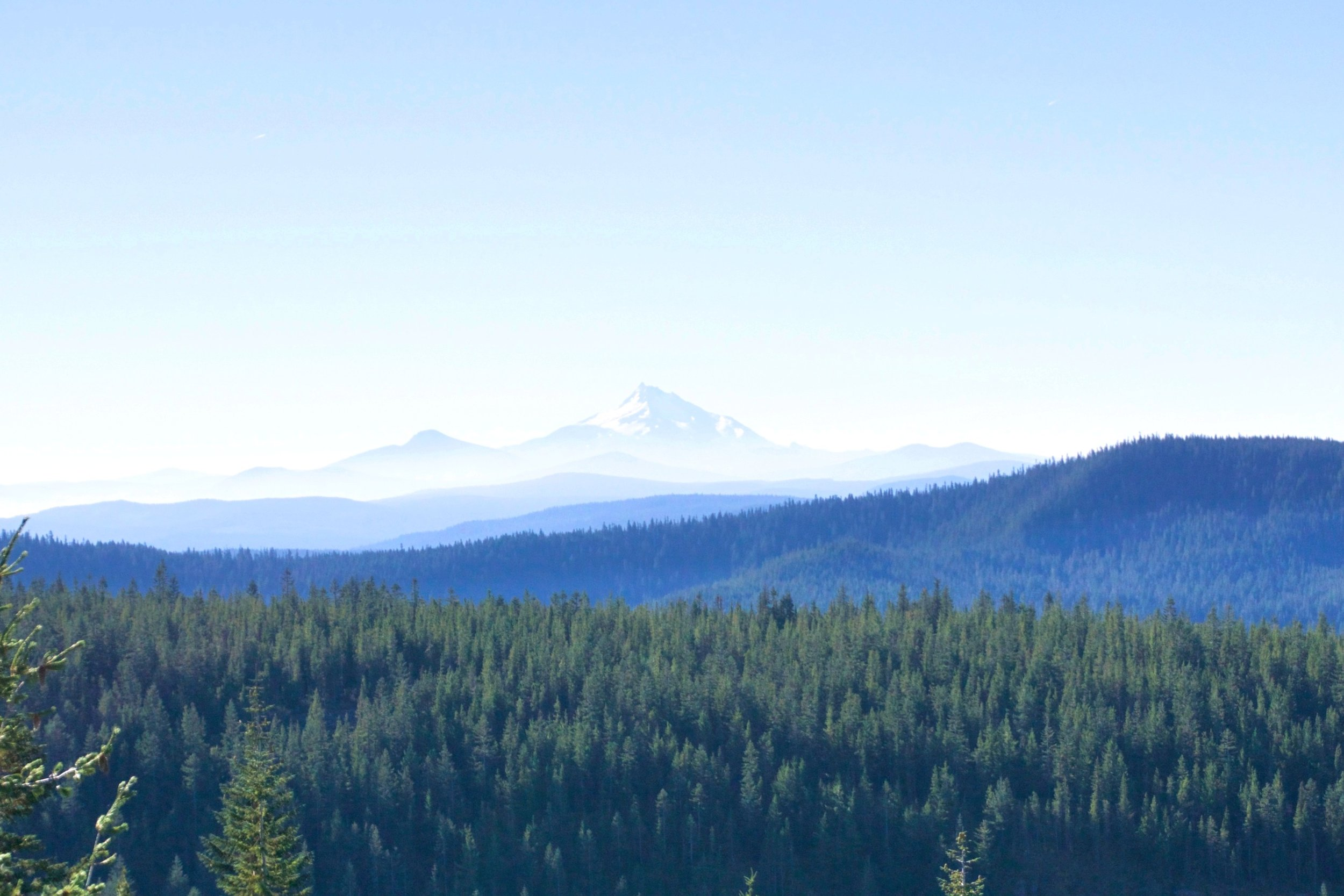 Mount Jefferson to the south
