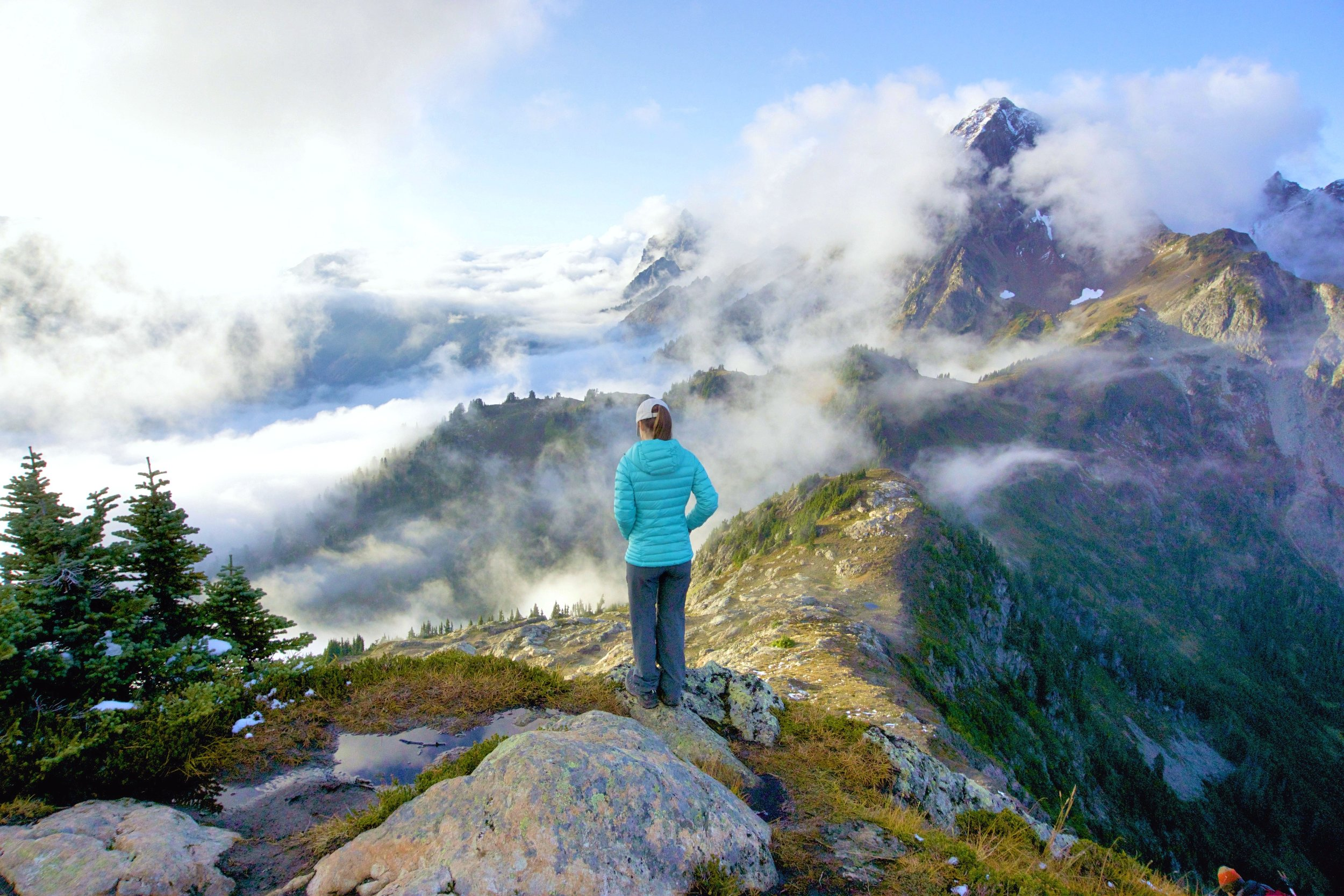 Backpacking in the North Cascades, Washington.