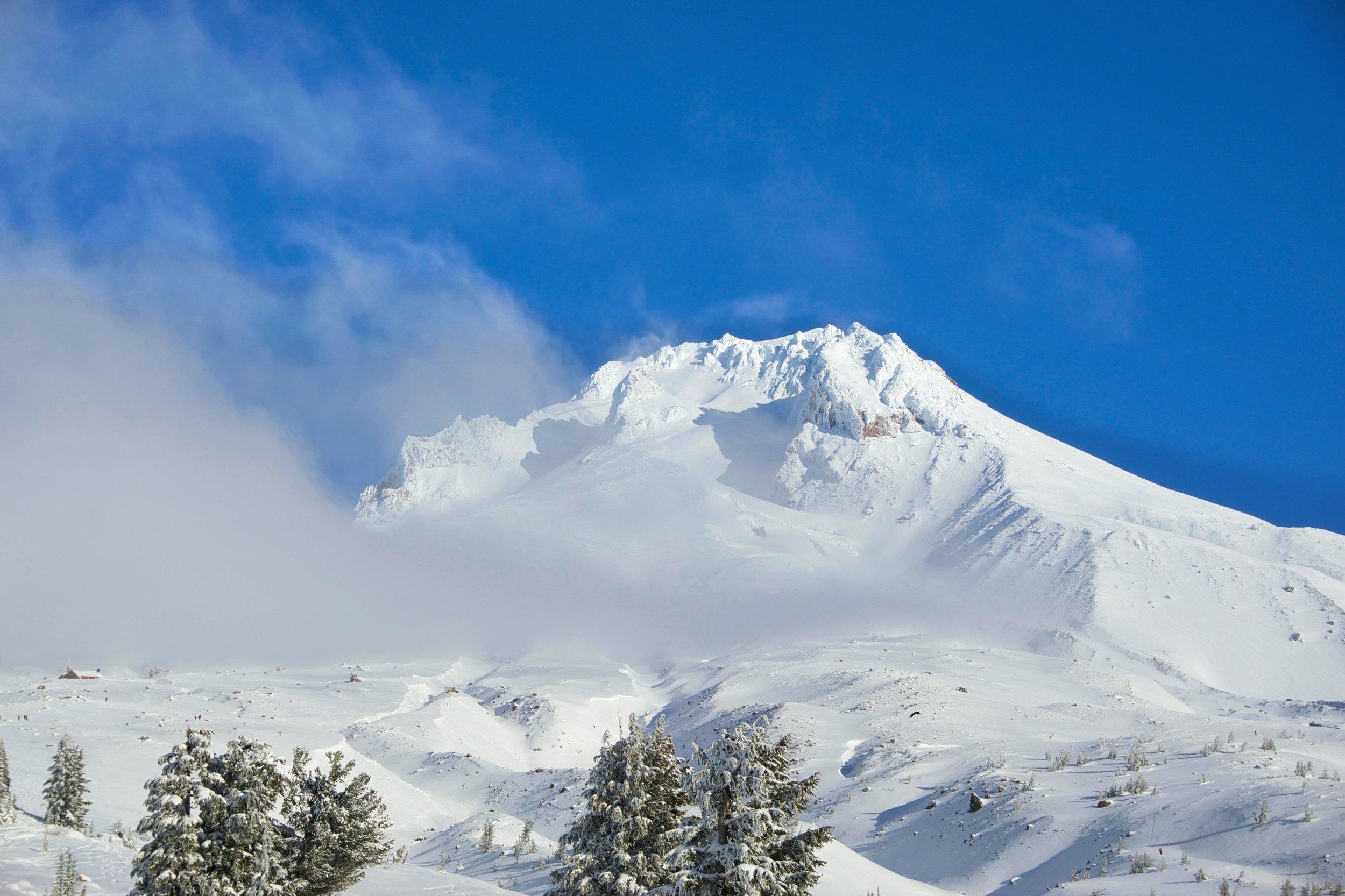 Snowshoeing on Mount Hood