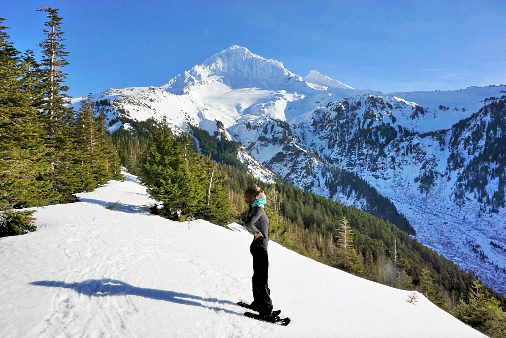 Snowshoeing to McNeil Point