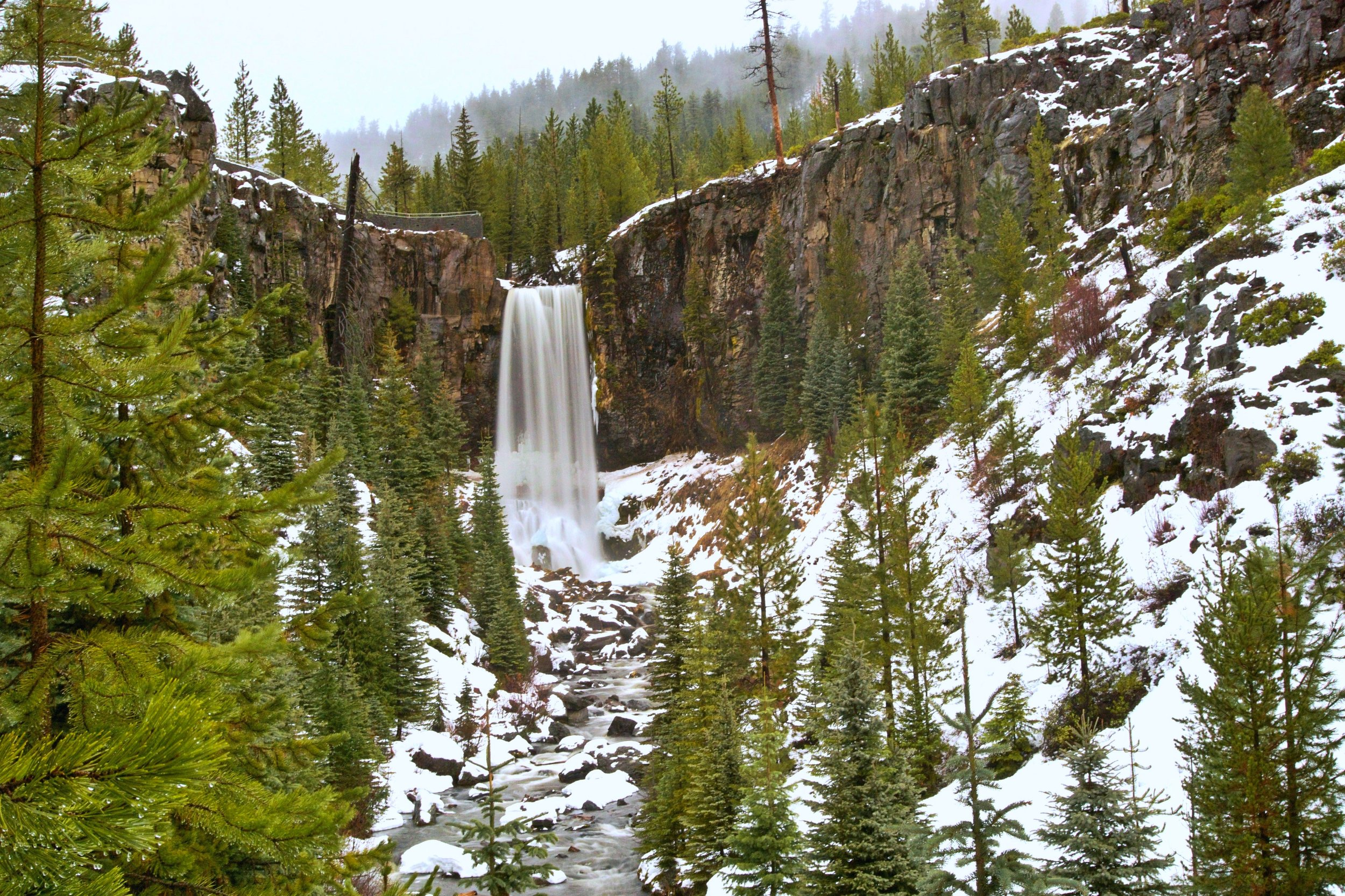Snowshoe to Tumalo Falls, Bend Oregon